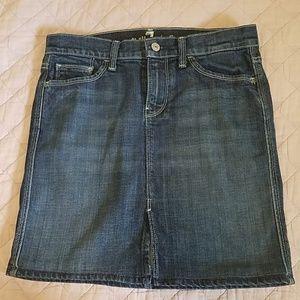 7 for all mankind denim pencil skirt